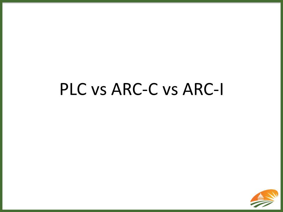 PLC vs ARC-C vs ARC-I