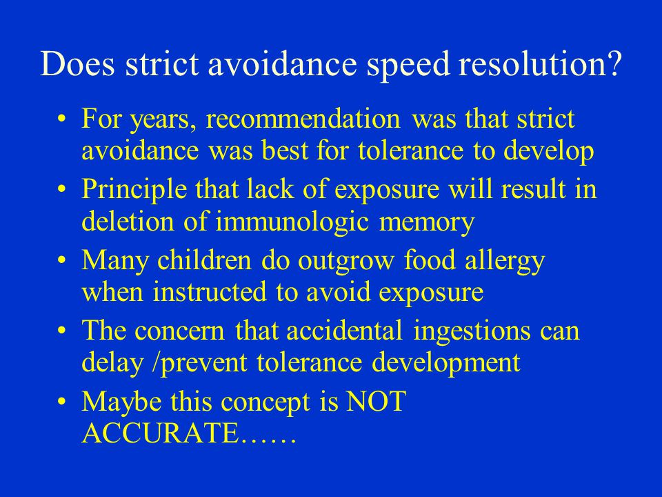 Does strict avoidance speed resolution.