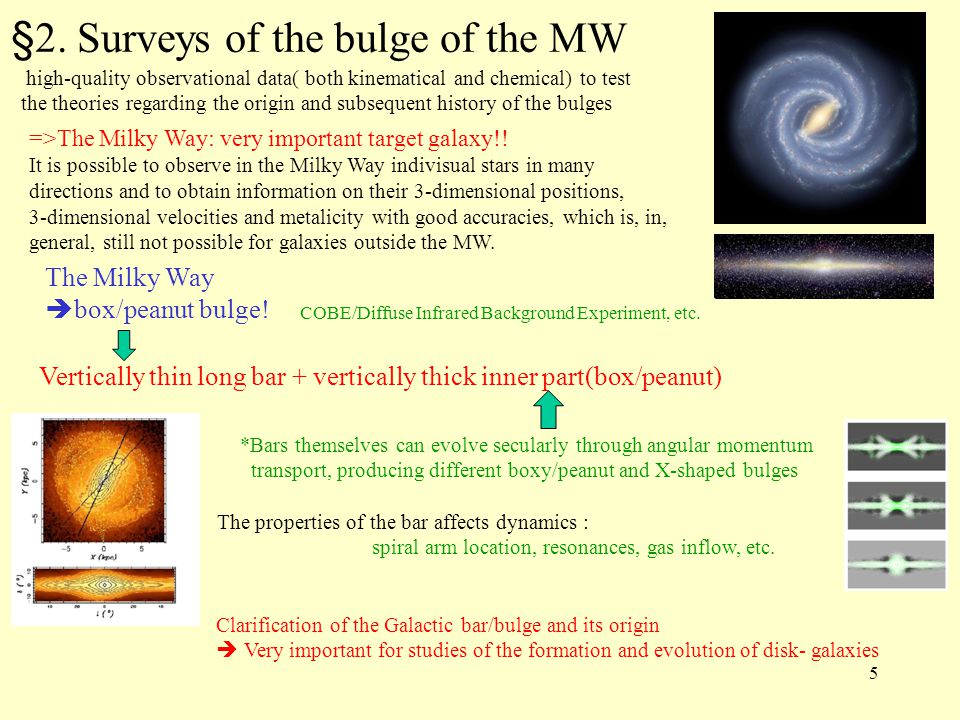 ★ Surveys of the bulge of the MW are necessary and important.
