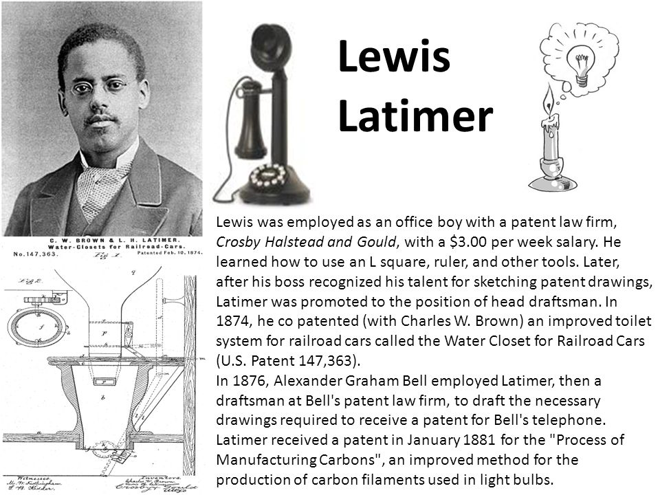 Lewis was employed as an office boy with a patent law firm, Crosby Halstead and Gould, with a $3.00 per week salary. He learned how to use an L square