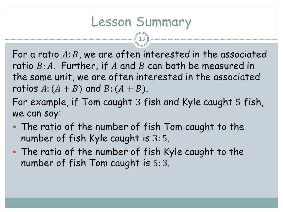 Lesson Summary 13
