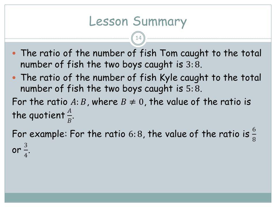 Lesson Summary 14