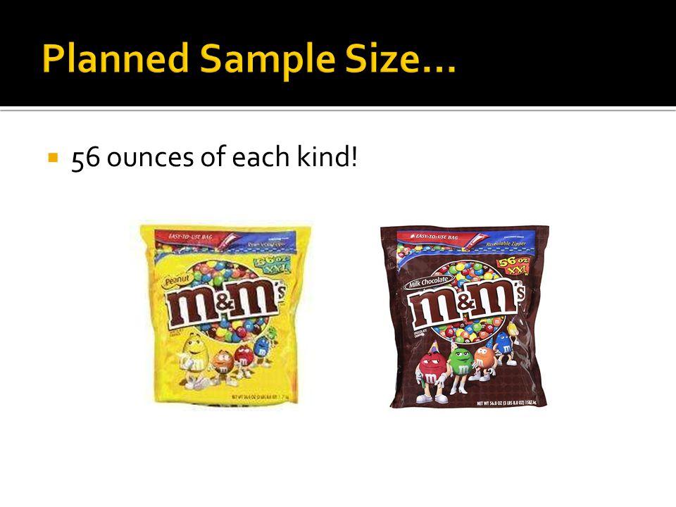  56 ounces of each kind!