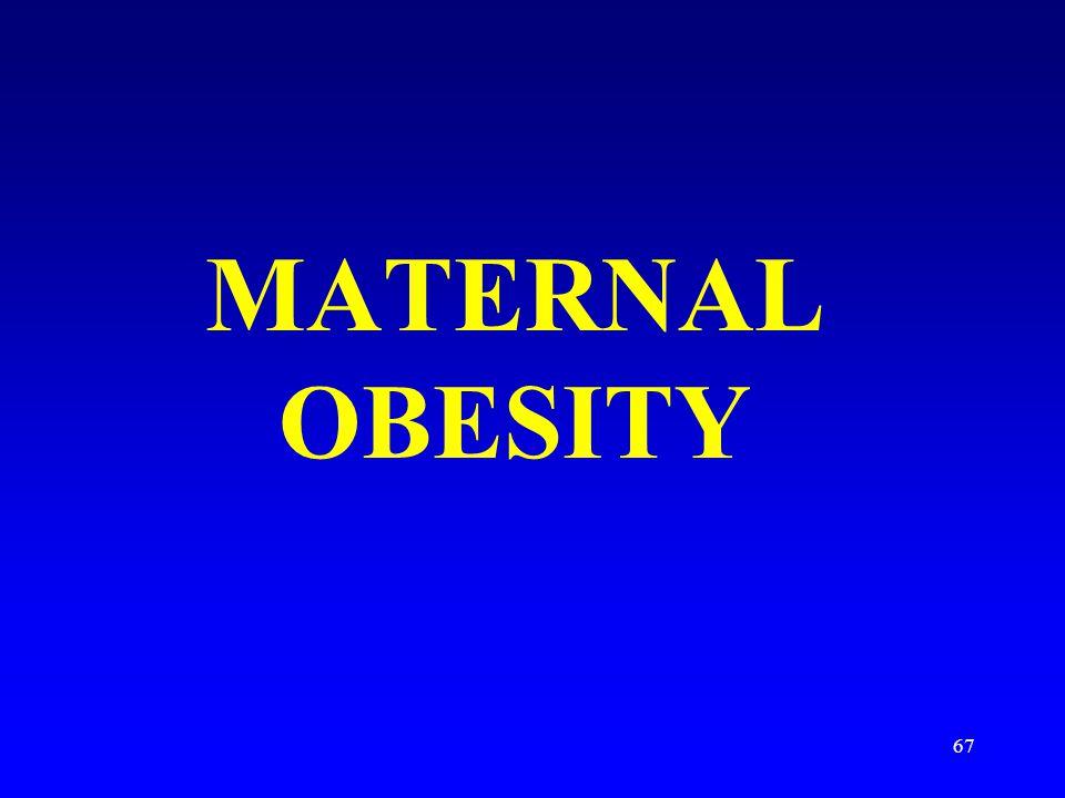 67 MATERNAL OBESITY