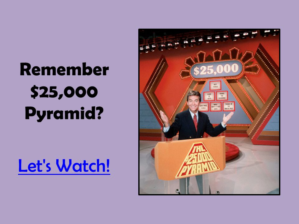 Remember $25,000 Pyramid? Let's Watch!