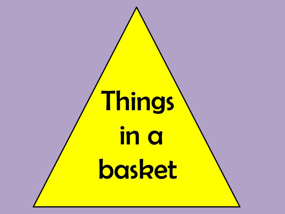 Things in a basket