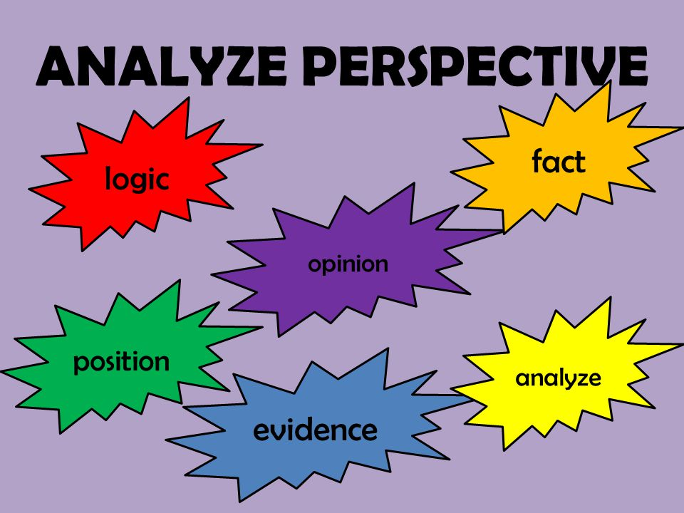 ANALYZE PERSPECTIVE logic opinion position evidence fact analyze