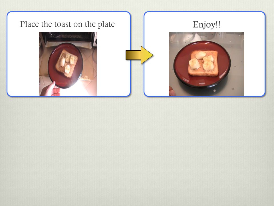 Place the toast on the plate Enjoy!!
