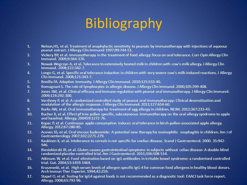 Bibliography 1.Nelson,HS, et al.