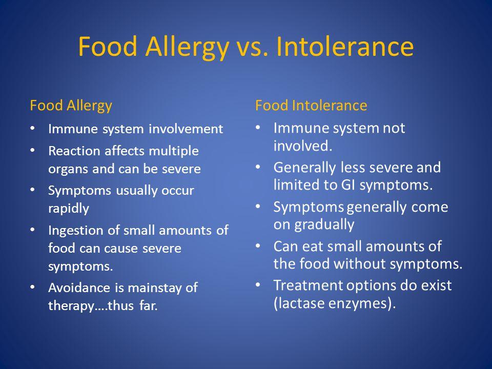 Food Allergy vs.