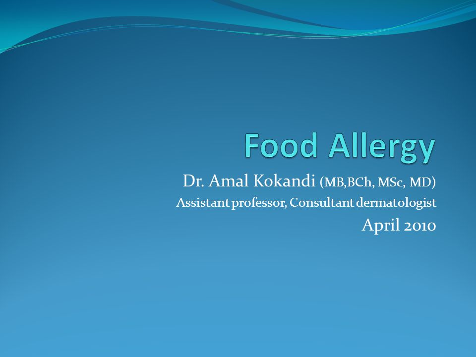 Dr. Amal Kokandi (MB,BCh, MSc, MD) Assistant professor, Consultant dermatologist April 2010