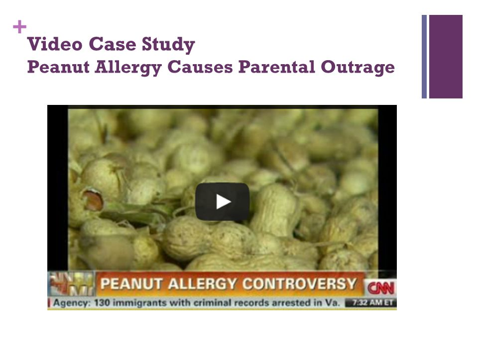 + Video Case Study Peanut Allergy Causes Parental Outrage
