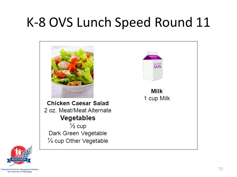 K-8 OVS Lunch Speed Round 11 http://www.istockphoto.com/stock-photo-8561275-stir-fry.php st=1595fe1 Chicken Caesar Salad 2 oz.