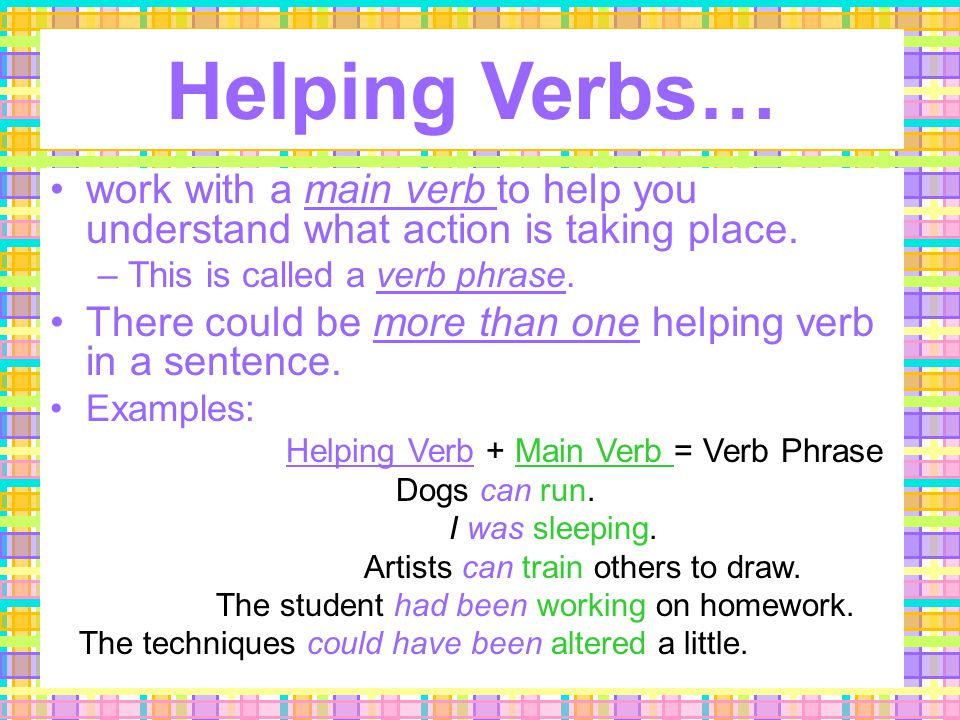 3. Helping Verbs Help me!