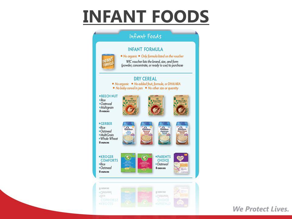 Removed Gerber Barley Added 2 store brands INFANT CEREAL -Rice -Oatmeal