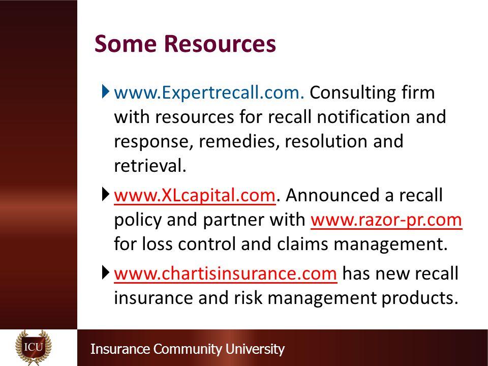 Insurance Community University  www.Expertrecall.com.