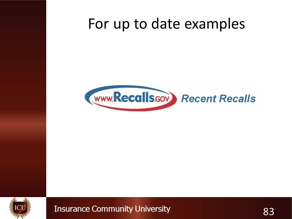 Insurance Community University For up to date examples 83
