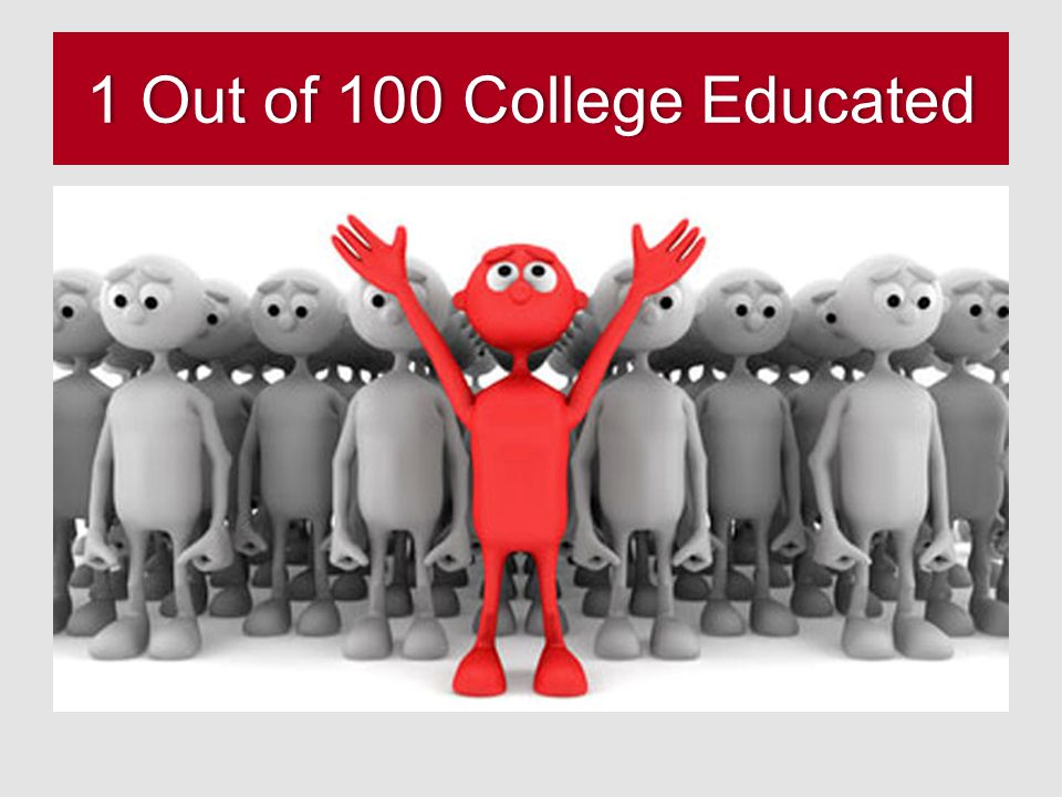 1 Out of 100 College Educated1 Out of 100 College Educated