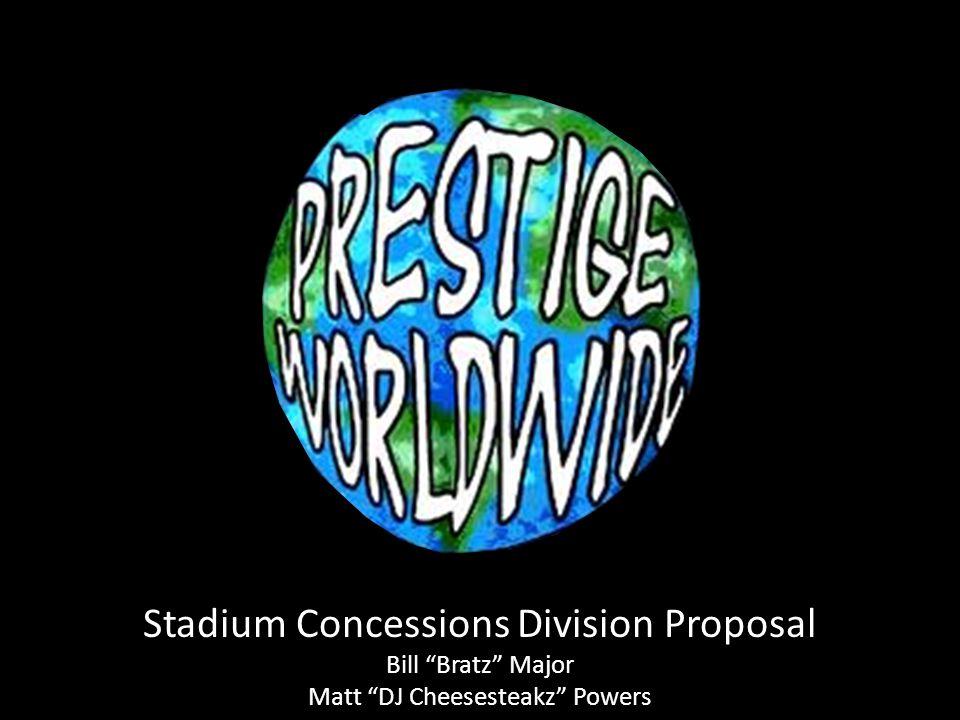 Stadium Concessions Division Proposal Bill Bratz Major Matt DJ Cheesesteakz Powers