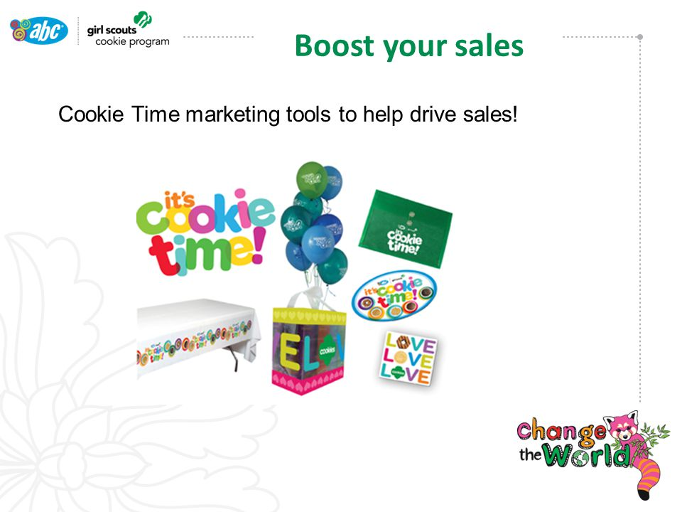 Cookie Time marketing tools to help drive sales! Boost your sales