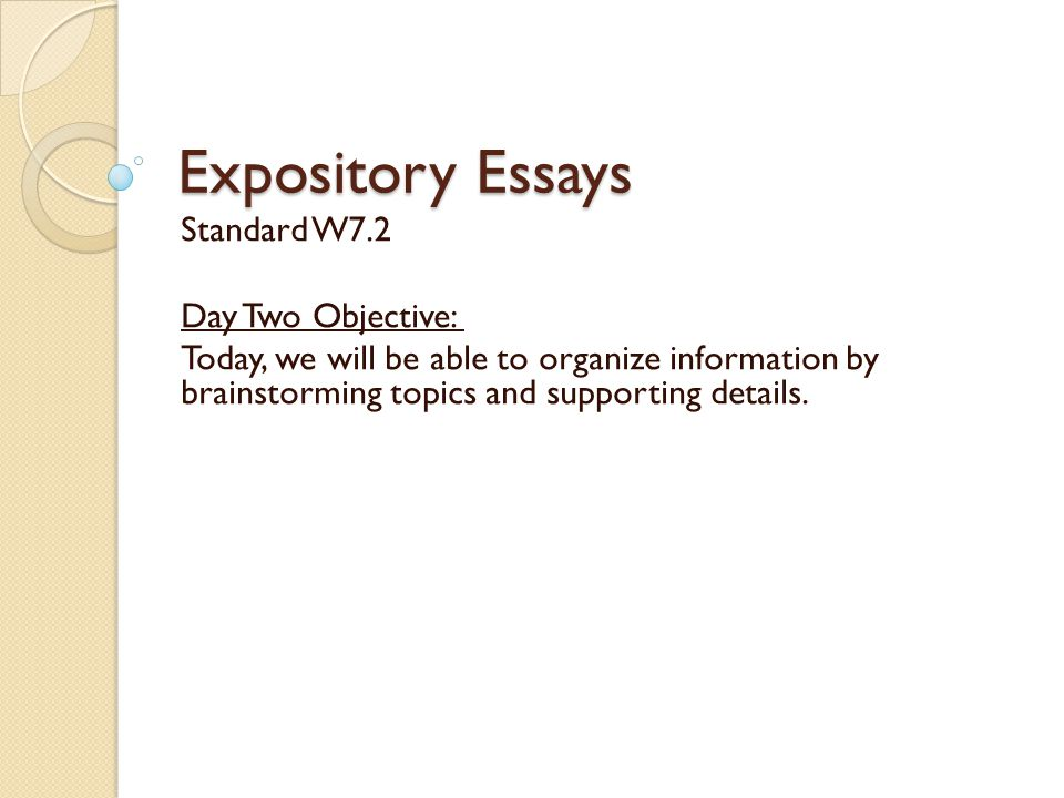 brainstorming for an expository essay
