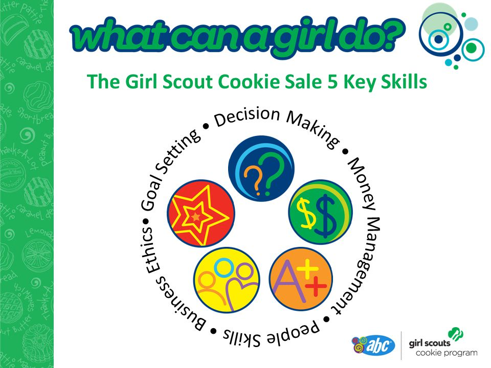 The Girl Scout Cookie Sale 5 Key Skills