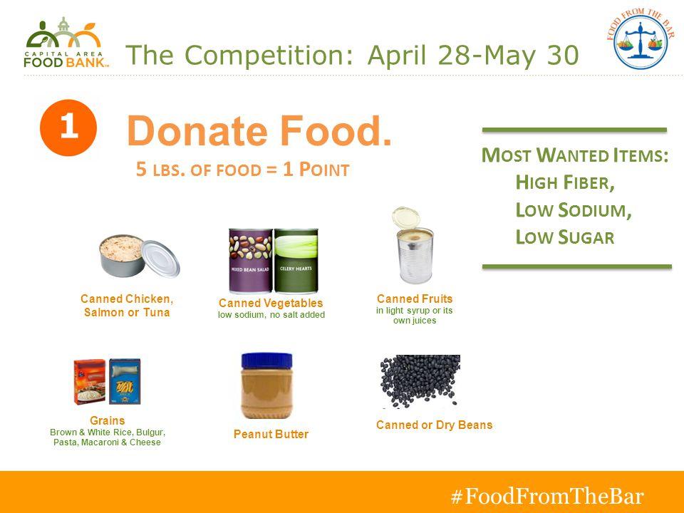 Donate Food. 5 LBS.