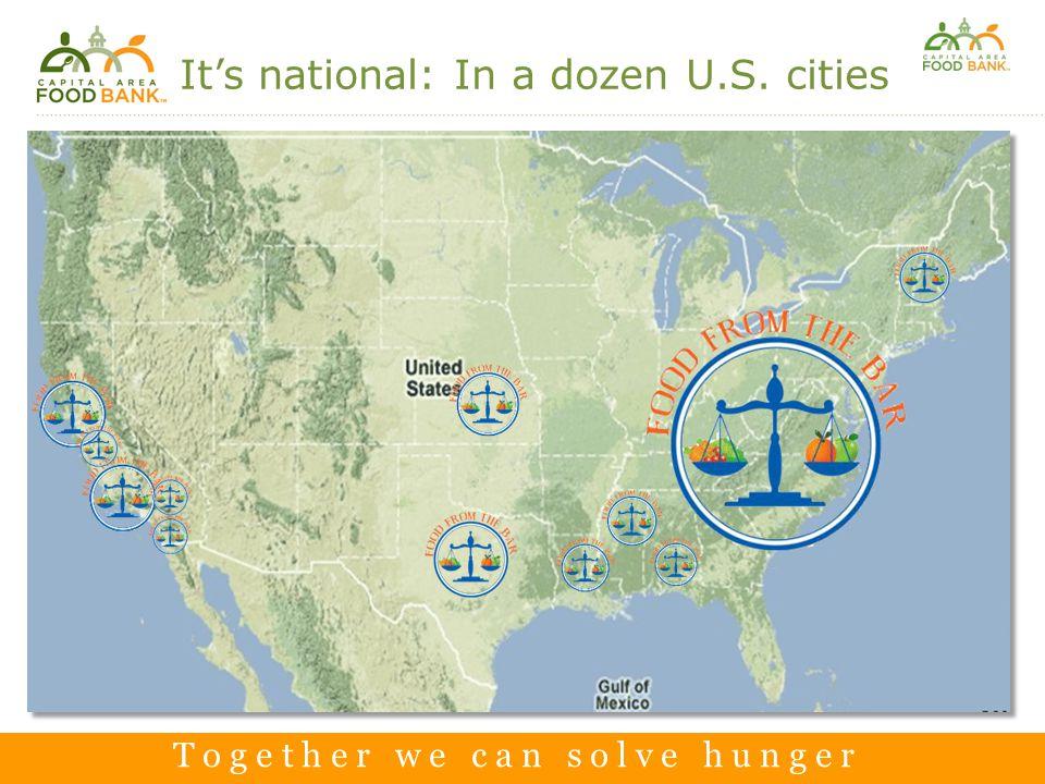 T o g e t h e r w e c a n s o l v e h u n g e r T o g e t h e r w e c a n s o l v e h u n g e r It's national: In a dozen U.S.