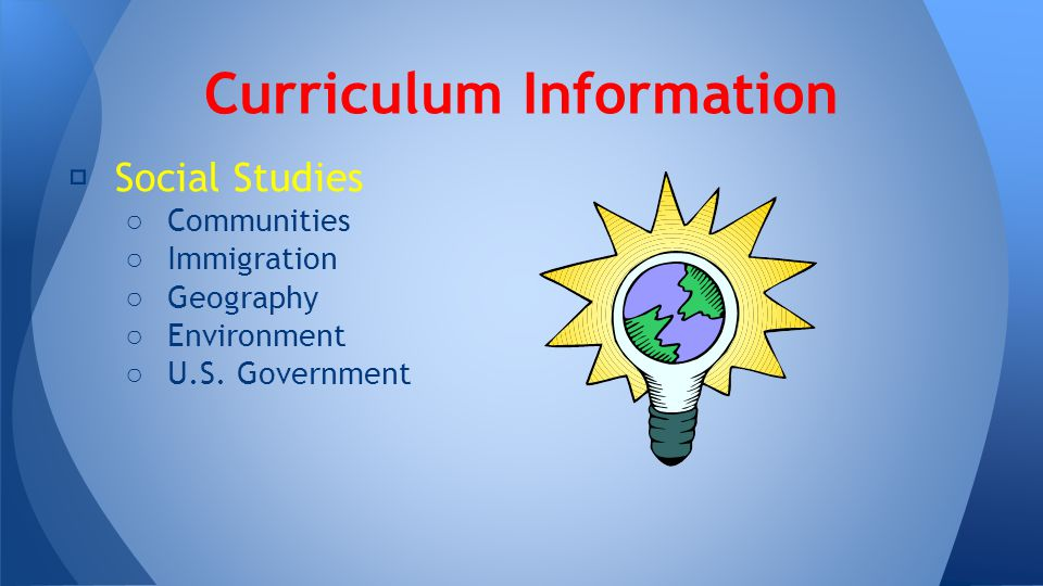 ★ Social Studies ○ Communities ○ Immigration ○ Geography ○ Environment ○ U.S.