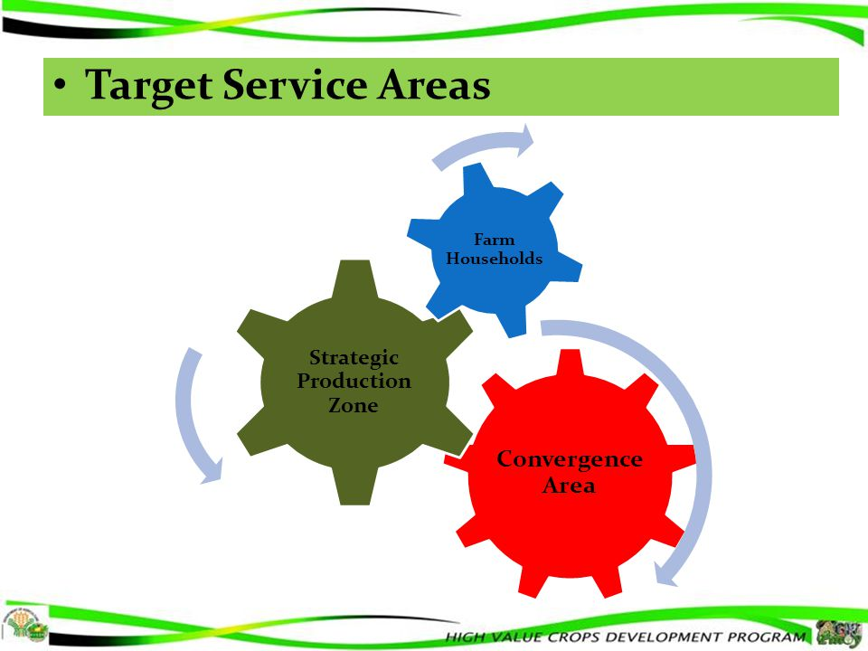 Convergence Area Strategic Production Zone Farm Households Target Service Areas
