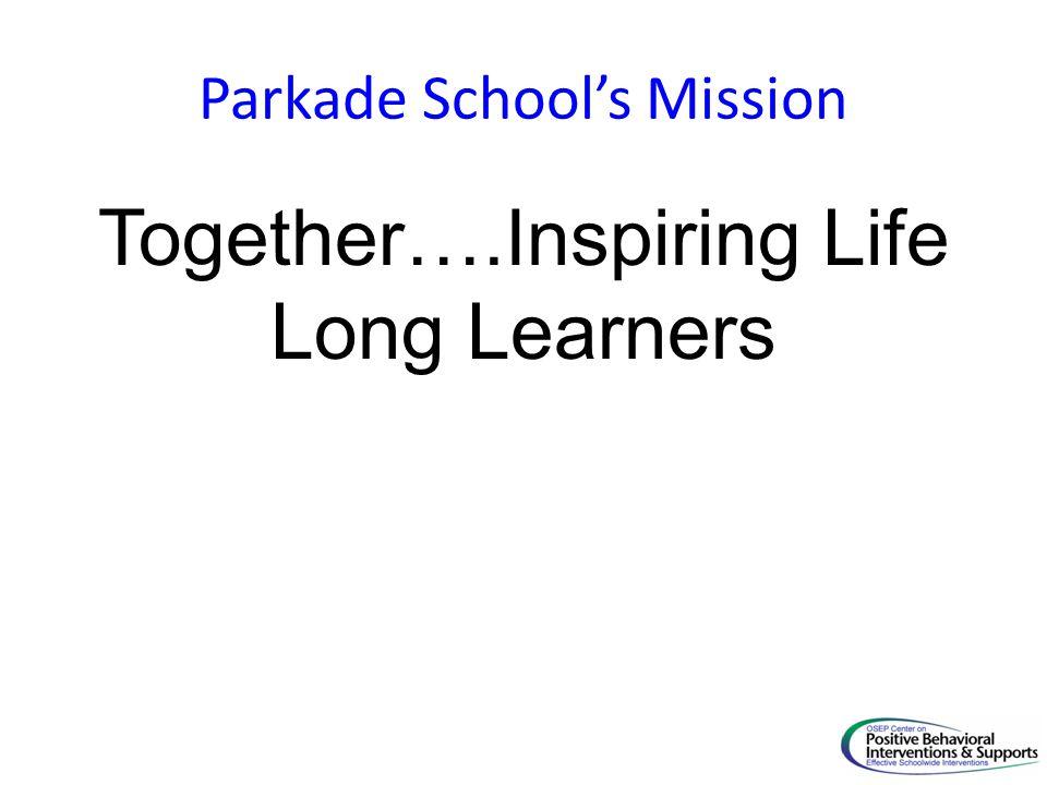 Parkade School's Mission Together….Inspiring Life Long Learners