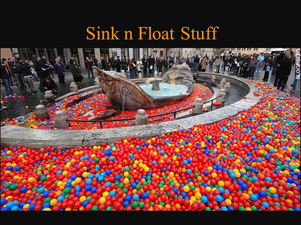 Sink n Float Stuff o Golf balls o Metal sphere ball in rocks changes!