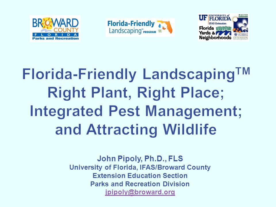 Tips for Landscaping for Wildlife Remove Invasive Exotic Plants Provide Bird/Bat houses and Bird Feeders Manage Pets Reduce Pesticide Use Expand the Scale of Habitat Limit the Amount of Lawn Increase Vertical Layering Provide Snags and Brush piles Provide Water Plant Native Vegetation