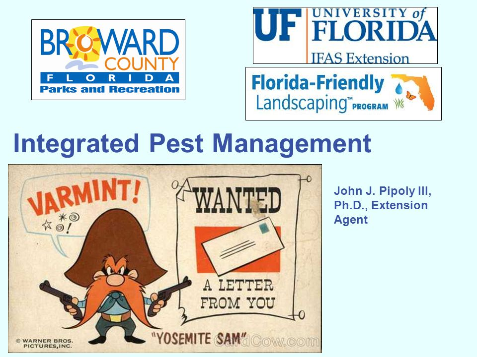 Integrated Pest Management John J. Pipoly III, Ph.D., Extension Agent