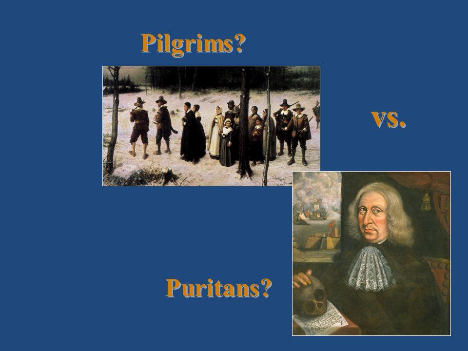 Pilgrims? vs. Puritans?