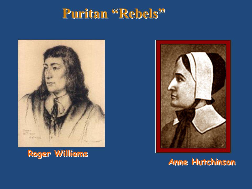 Puritan Rebels Roger Williams Anne Hutchinson