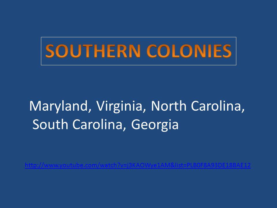 Maryland, Virginia, North Carolina, South Carolina, Georgia http://www.youtube.com/watch?v=j3KAOWye1AM&list=PLB0F8A93DE18BAE12