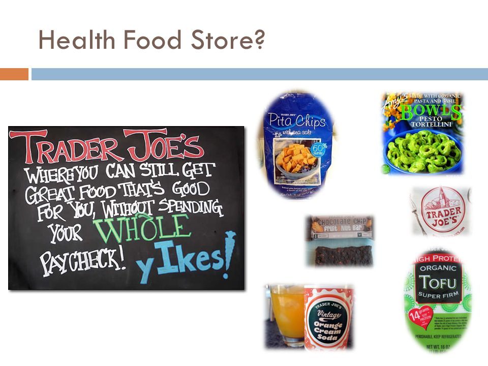Health Food Store?