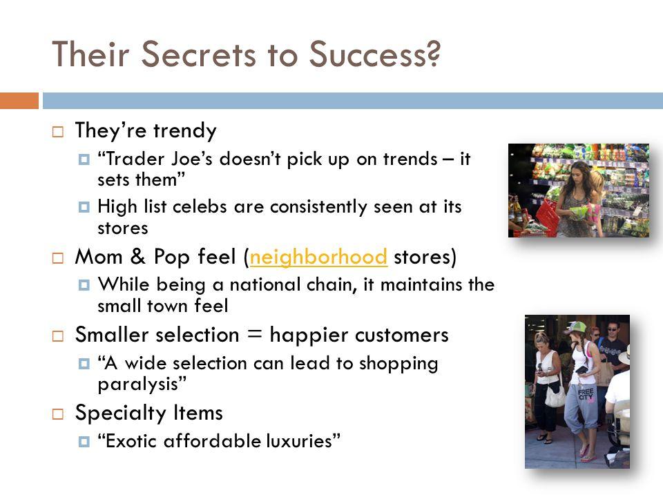 Their Secrets to Success.