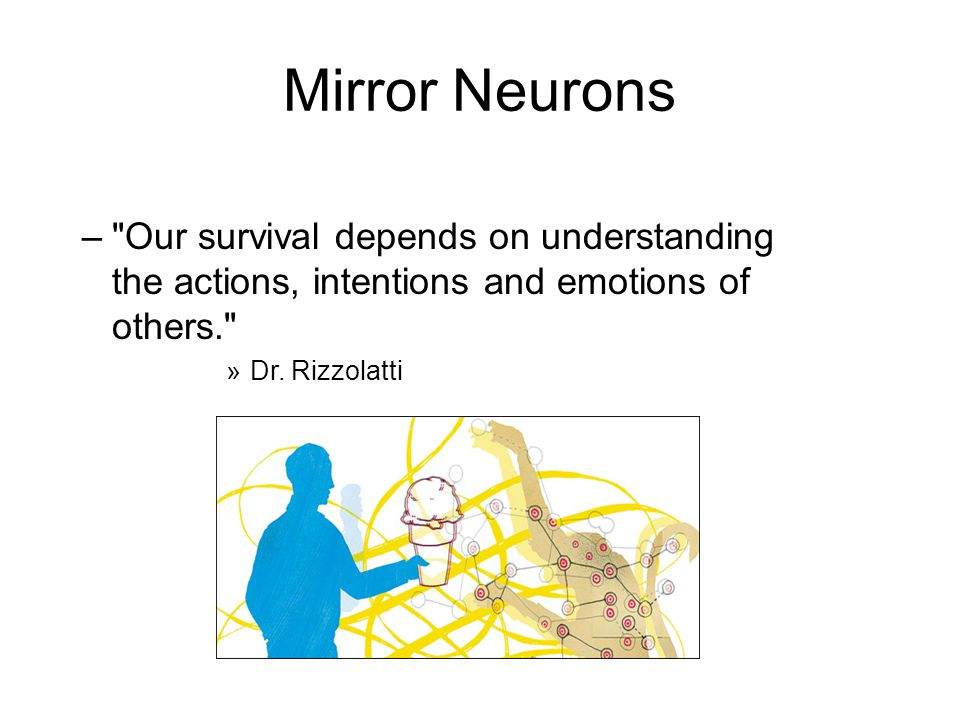 Mirror Neurons – Our survival depends on understanding the actions, intentions and emotions of others. »Dr.