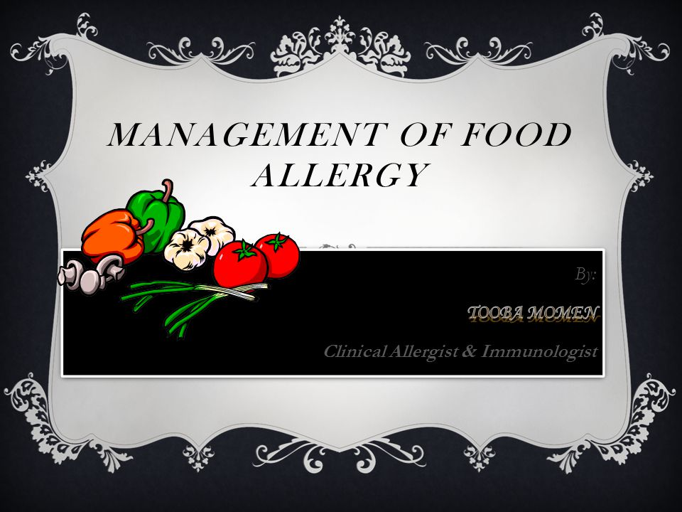 MANAGEMENT OF FOOD ALLERGY