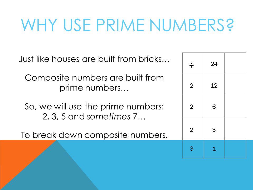 WHY USE PRIME NUMBERS.