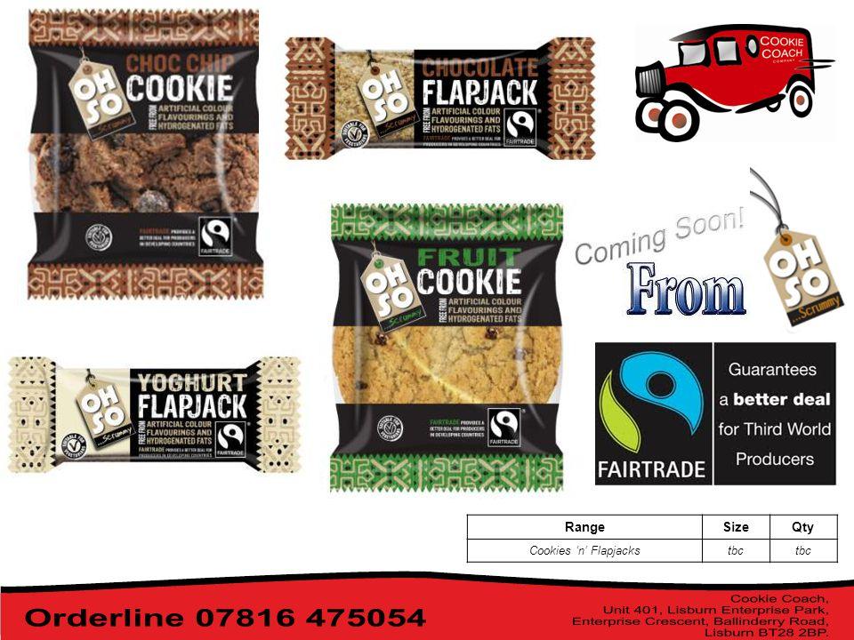 RangeSizeQty Cookies 'n' Flapjackstbc