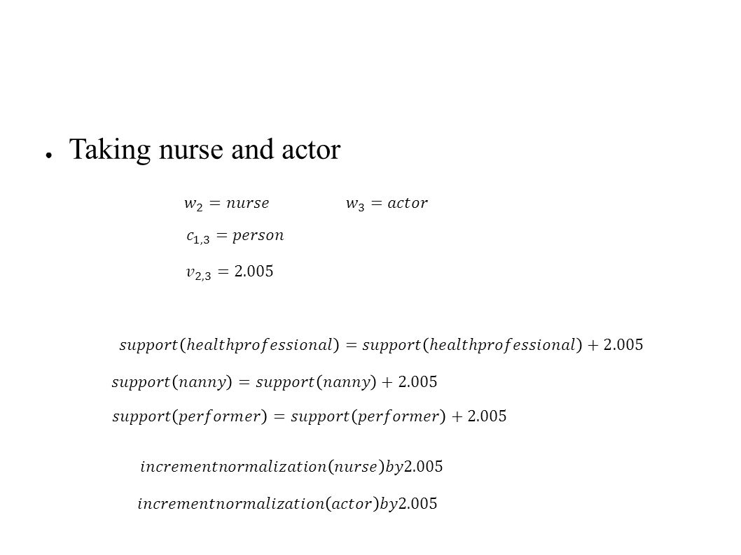 ● Taking nurse and actor