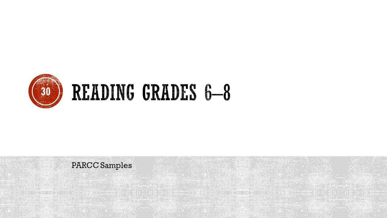 PARCC Samples 30