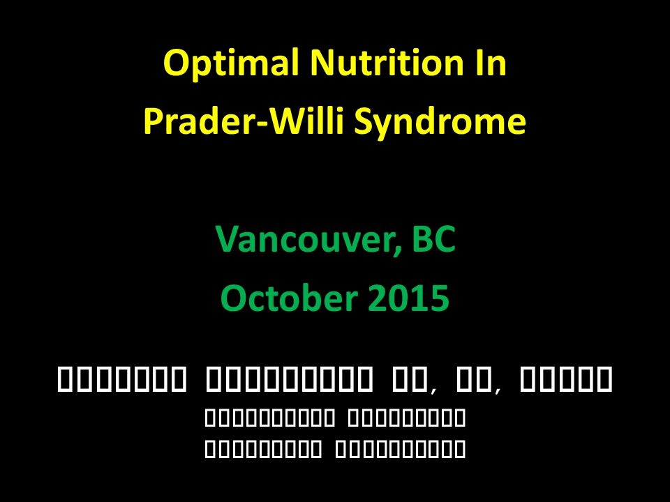 PWS Research Study CARBS: 45% (less carbs) PRO: 25% (more protein) FAT: 30% (same fat) FIBER: 20 grams per day *Miller, et al.