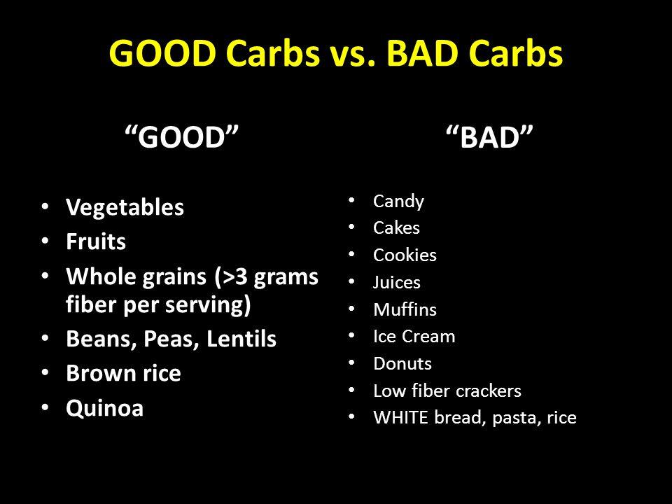 GOOD Carbs vs.
