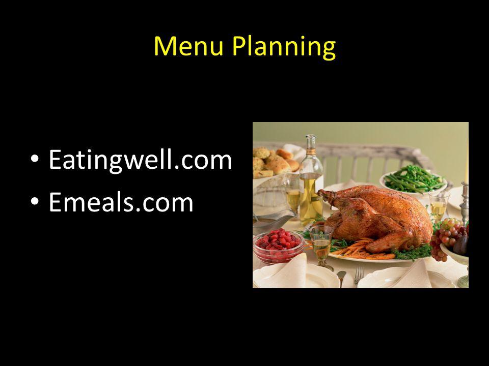Menu Planning Eatingwell.com Emeals.com