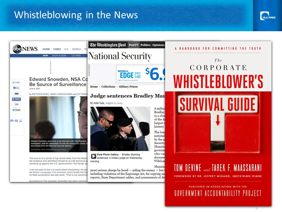 Whistleblowing in the News 5
