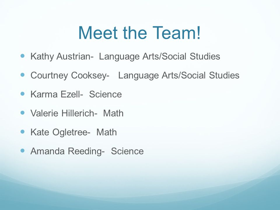 Meet the Team.